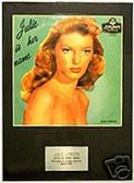 JULIE LONDON  - JULIE IS HER NAME -  Framed LP Cover